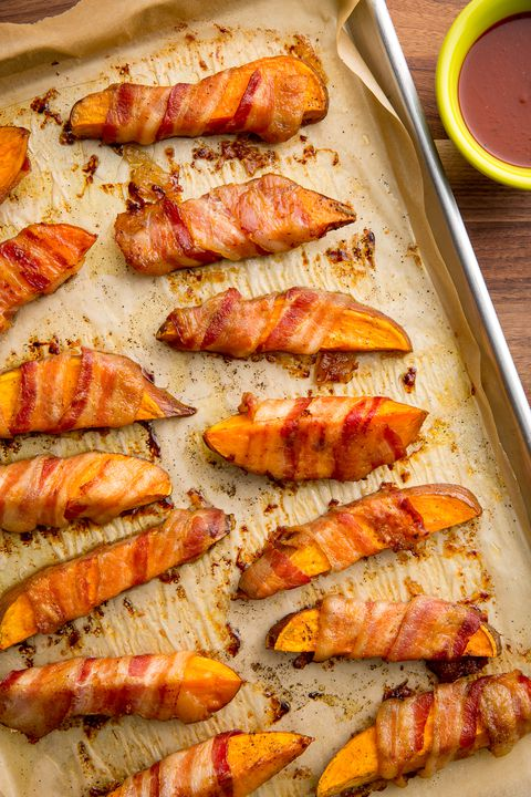 Bacon-Sarılı Sweet Potato Fries Recipe