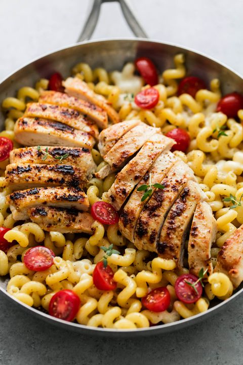 Caprese Chicken Pasta Vertical