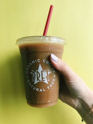 Pret A Manger iced coffee