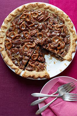 toto deliciously crunchy pie has some surprising undertones of orange, vanilla, and cinnamon, which are perfect contrasts to the salty pretzels.Recipe: Chocolate Pretzel Pecan Pie