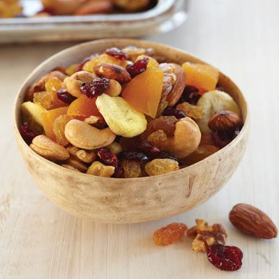 Detta quick and hassle-free recipe makes a satisfying snack that's healthy, too.Recipe: Fruit-and-Nut Trail Mix