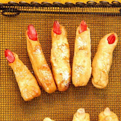 Te lifelike pretzel fingers are worth the effort. Not only are they tender and savory with a hint of rosemary, they are also ghoulishly good at scaring Halloween-party guests.Recipe: Ladies' Fingers and Men's Toes
