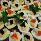 s the 1960s focus on pricey ingredients, deviled eggs found themselves topped with caviar.