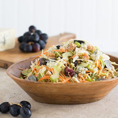 Blå Cheese, Walnut, Grape, and Cabbage Slaw