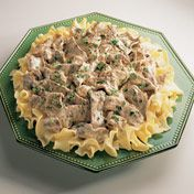 Nenehno a family favorite, this classic dish of quickly sautéed beef and onion in a creamy mushroom sauce is perfect over hot cooked noodles. Garnish with fresh parsley for a colorful table presence and serve with a family favorite green vegetable.