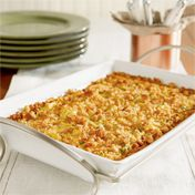 toto creamy crowd-pleasing side dish features summer squash, carrot, stuffing mix and cheese baked in a creamy sauce. Crispy on top and creamy in the center, this favorite side dish is a winner on any menu