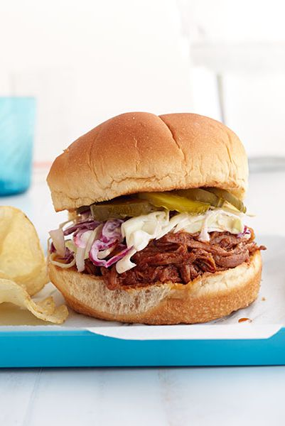 Barbekü Brisket Sandwiches with Quick Slaw