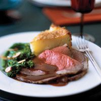 Herb-Crusted Rib-Eye Roast with Madeira Gravy