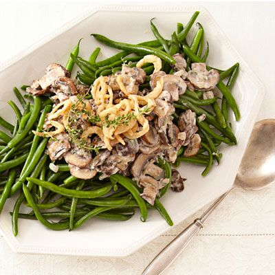 Lök and cremini mushrooms sauteed in butter infuse the creamy sauce atop this classic dish with rich flavor. Prepared in a mere 30 minutes, there are plenty of reasons this dish is a tradition.Recipe: Stovetop Green Bean Casserole