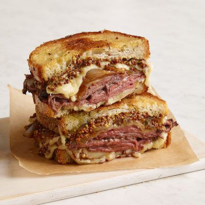 Steka Beef and French Onion Grilled Cheese