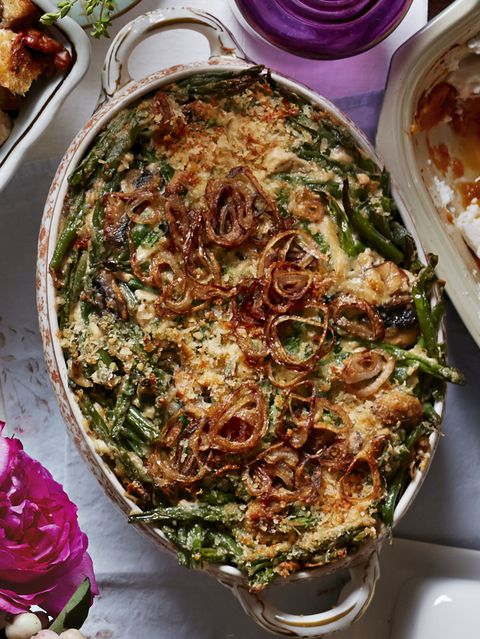 Zelena Bean Casserole with Fried Shallots