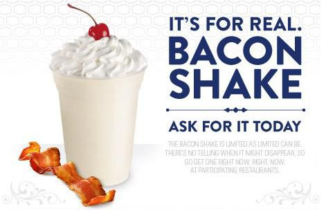 jack in the Box Bacon Shake