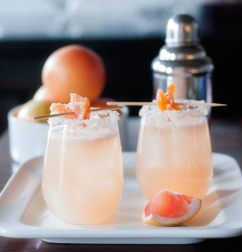 หวาน grapefruit cocktail