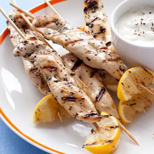 limona oregano chicken skewers