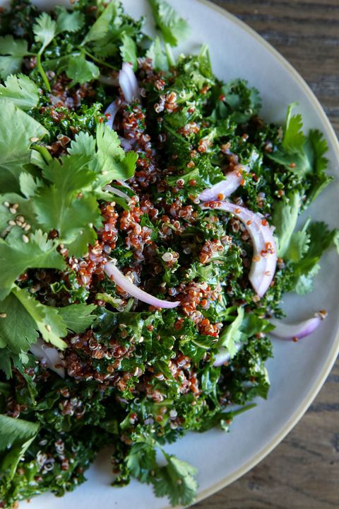 kel and Red Quinoa Salad with Spicy Sesame Dressing Recipe