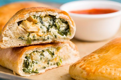 cheesy Spinach Calzones