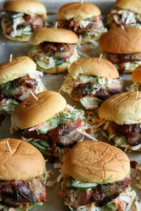 BBQ Pork Sliders with Cucumber-Dill Slaw Recipe