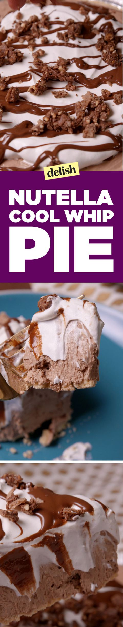 Nutella Cool Whip Pie Pinterest