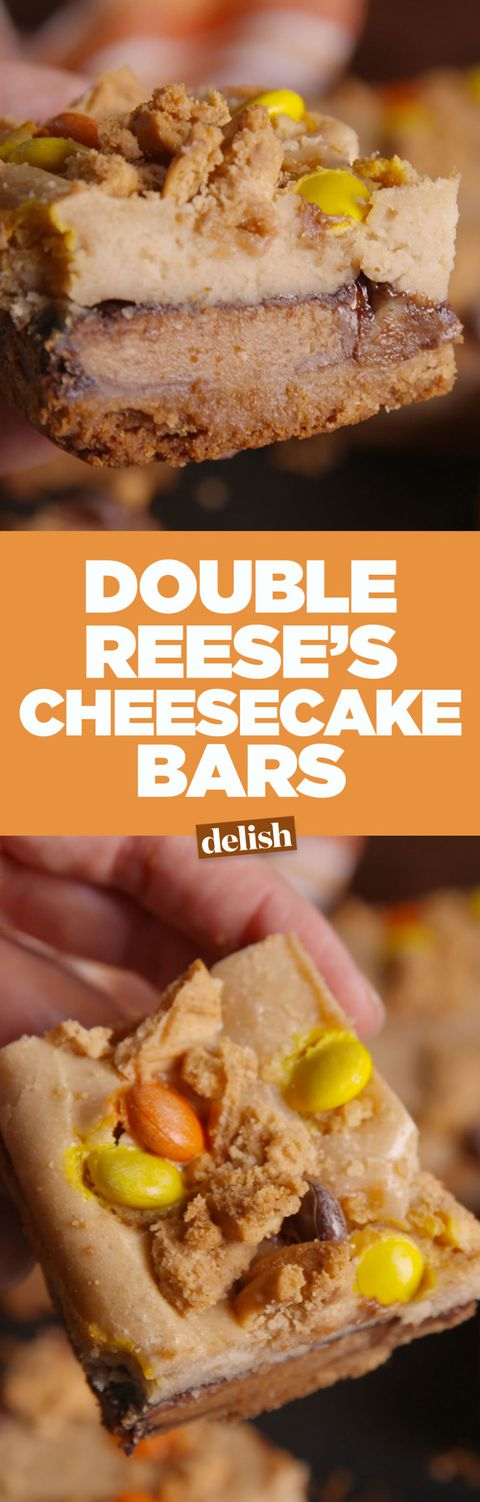Dubbel Reese's Cheesecake Bars Pinterest