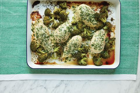One-Pan Parmesan Crusted Chicken With Broccoli Horizontal