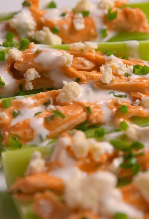 Buffalo Chicken Celery Boats Vertical