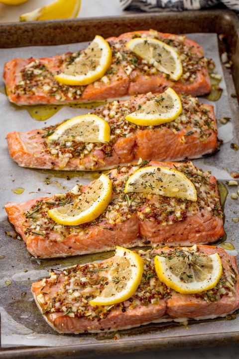 Broiled Salmon Vertical