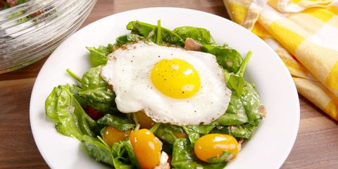 Bacon, Egg and Spinach Salad