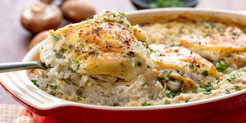 ไก่ and Rice Casserole Horizontal
