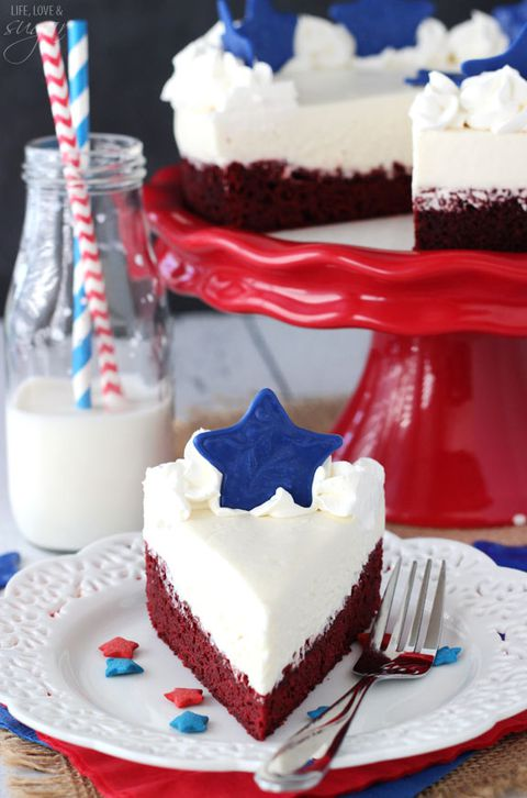 Röd Velvet Fourth of July Cheesecake