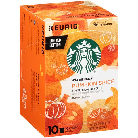 Starbucks pumpkin spice ground coffee K-cups