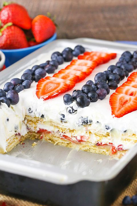 juli 4th Cheesecake Ice Box Cake