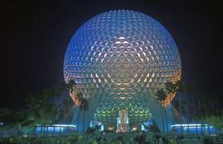 Epcot Center landmark, Spaceship Earth in Future World, Disney's Epcot Center, Buena Vista, Florida